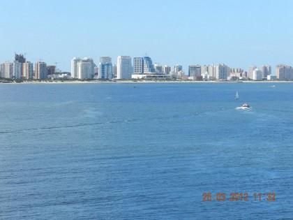 Vista de Punta del Este do navio