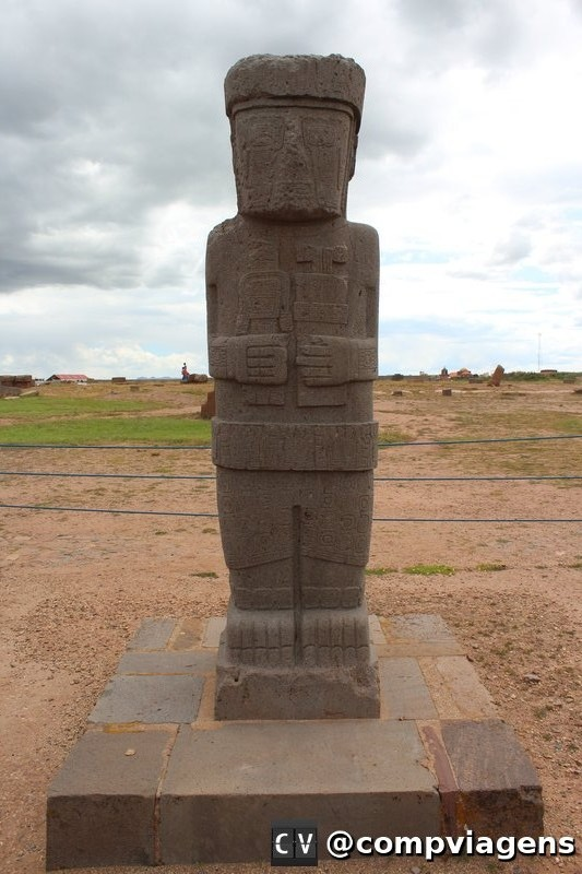 Monolito em Tiwanaku