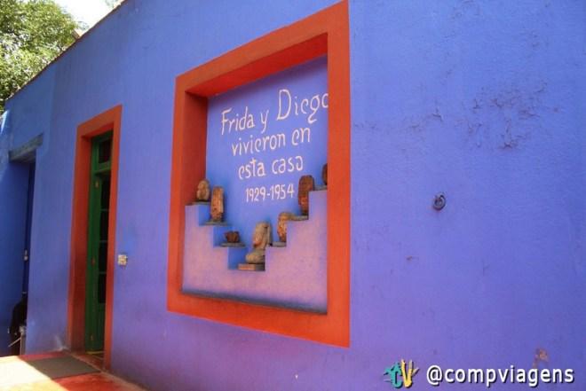 Casa Azul, onde viveram Frida e Diego