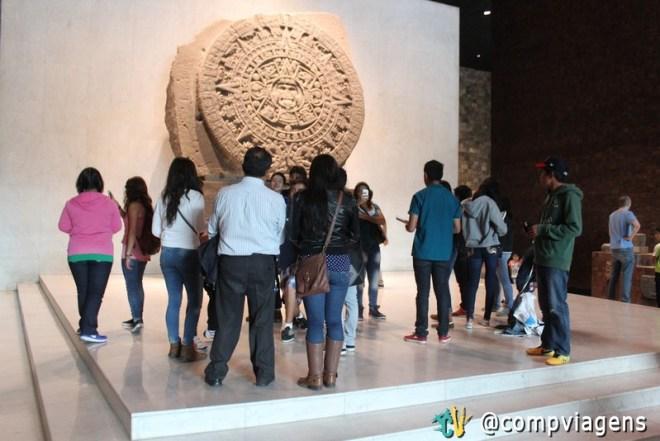 Pedra do Sol, no Museu Nacional de Antropologia