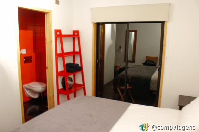 Nosso primeiro quarto no Hostal French Andes