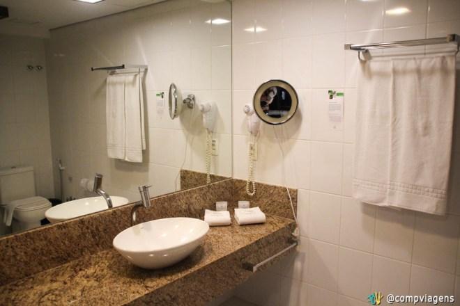 Banheiro do quarto luxo