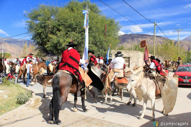 Gaúchos na festa da Independência em Cafayate