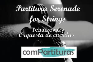 Partitura Serenade for strings