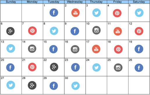 social media marketing plan calendar