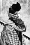 Hat and coat made by Pierre Cardin for the presentation of the FW 1959/1960 collection