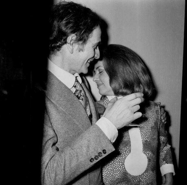 Pierre Cardin e Jeanne Moreau nel 1970