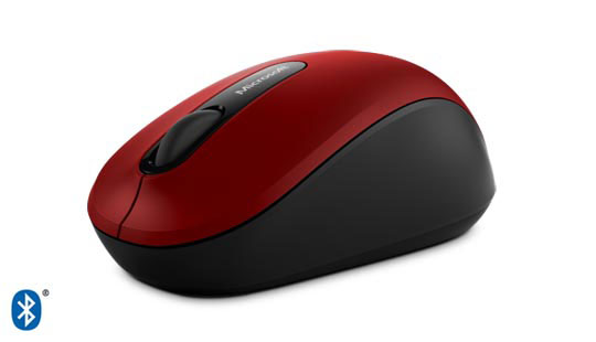 Microsoft Wireless Bluetooth Mobile Mouse 3600 in red