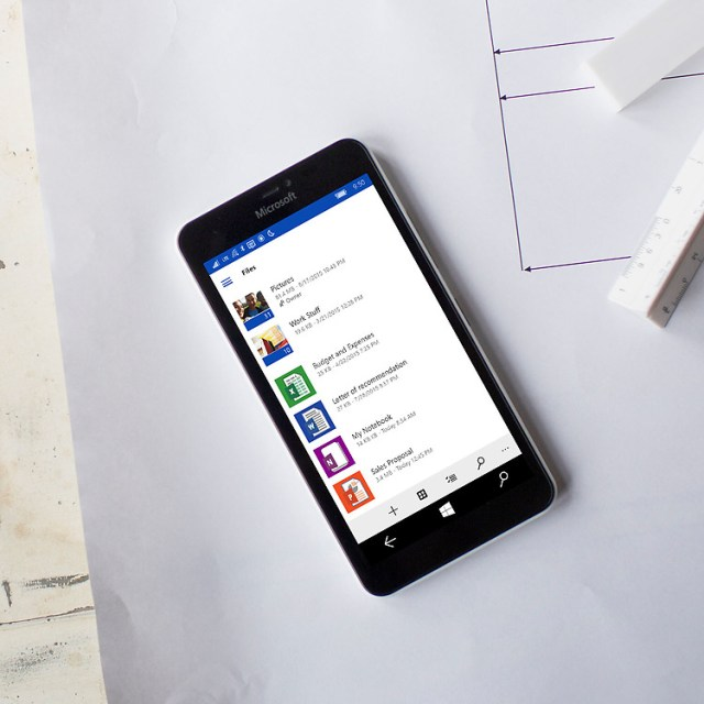 OneDrive saia já do windows phone e vá para o windows 10 mobile