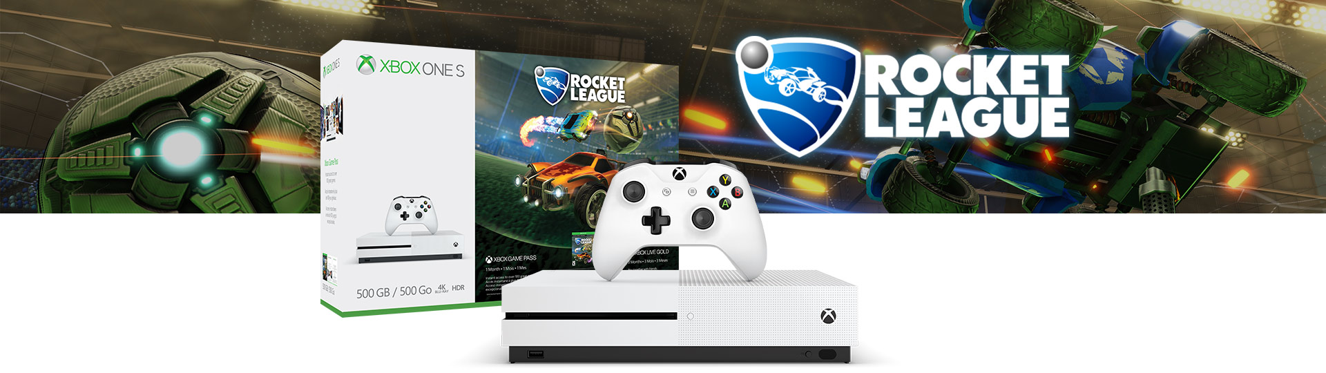 Zestaw Rocket League Blast-Off z konsolą Xbox One S (500 GB)