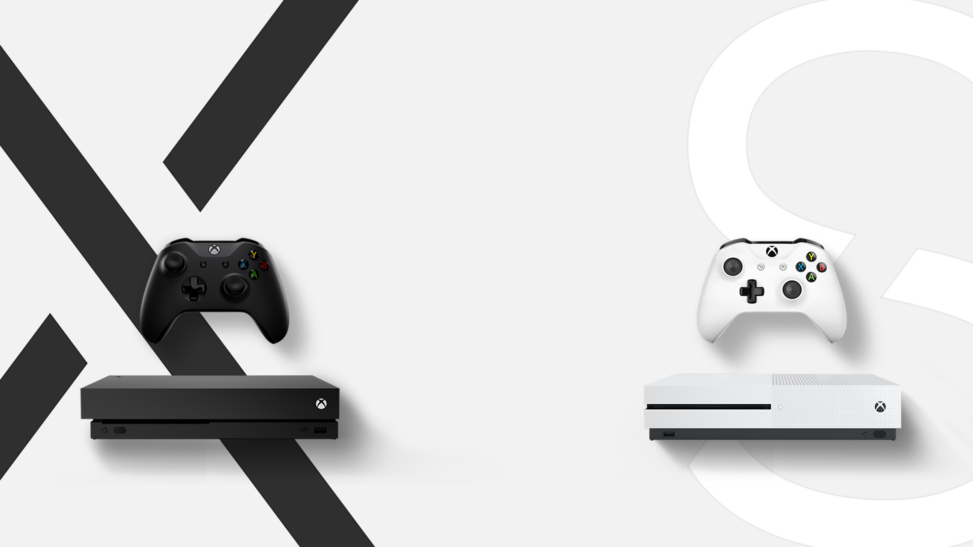 xbox one x and xbox one s consoles [ 1920 x 1080 Pixel ]