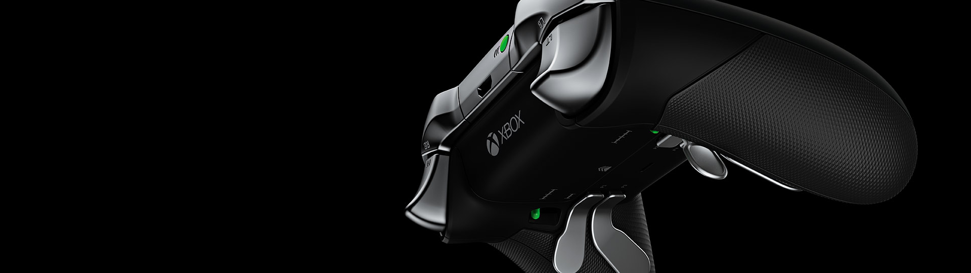 left angled view of xbox elite wireless controller [ 1920 x 540 Pixel ]