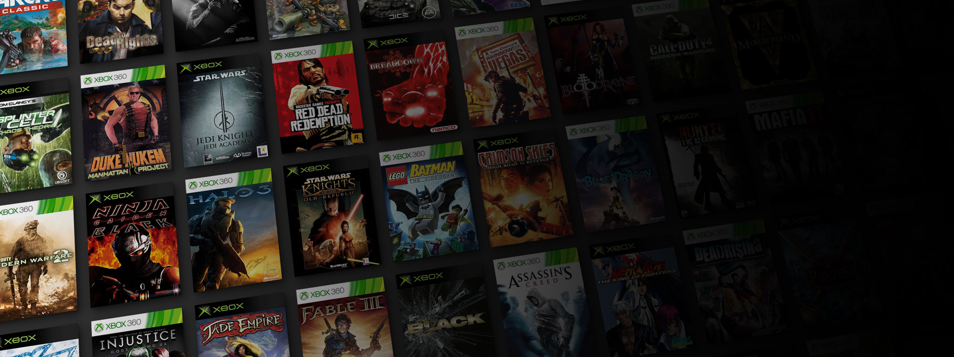 a collection of xbox and xbox 360 boxshots [ 1920 x 720 Pixel ]