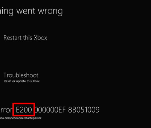 E Error Code