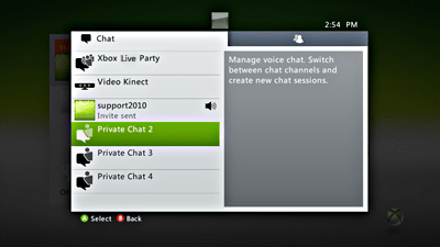 Xbox Live Chat Chat On Xbox 360