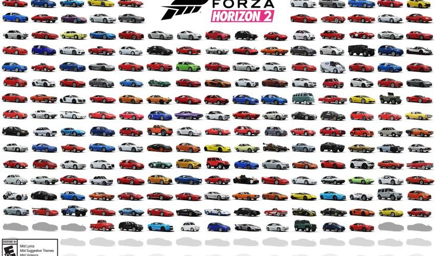 Forza Horizon 2 Cars List Revealed 1