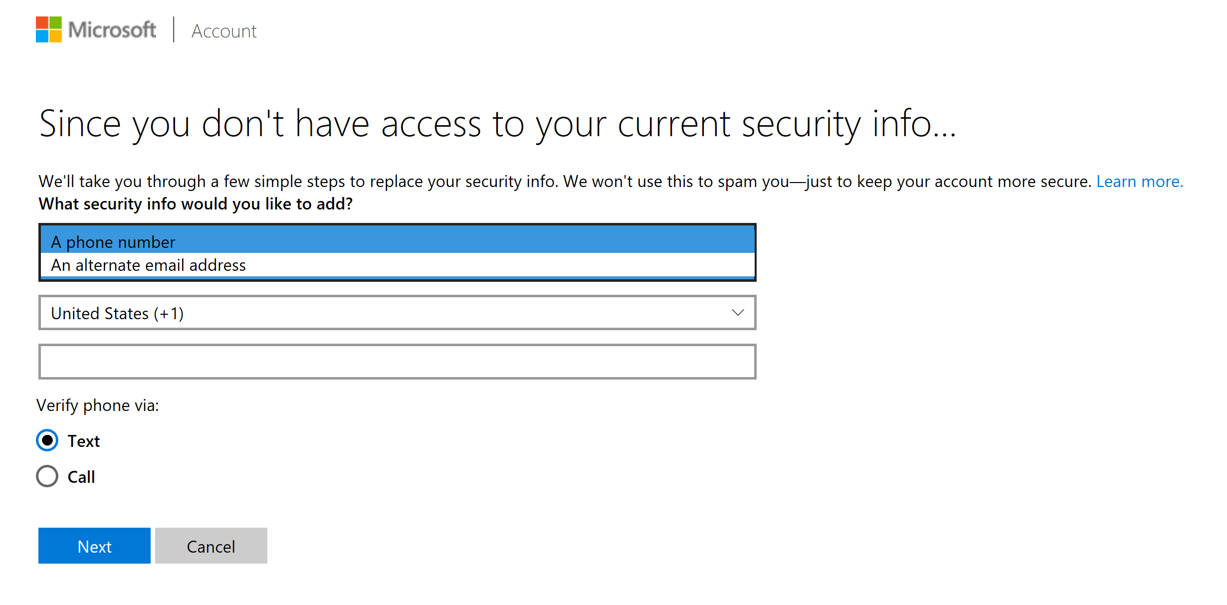update your microsoft account