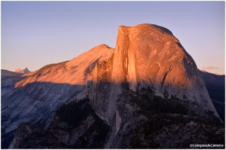 Half Dome and Cloud's Rest at Sunset
