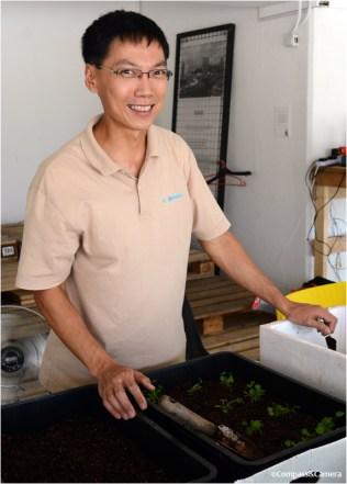 Andy, planting cilantro -- my favorite!