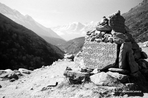 Mani stone above Namche