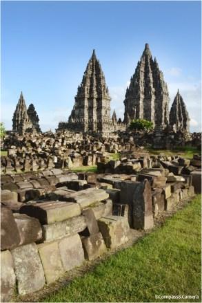 Prambanan from the northwest corner
