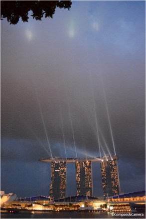 Lights from Marina Bay Sands