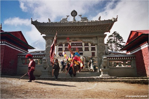 Gate of Tengboche Monastery