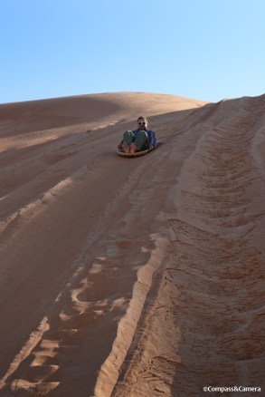 Dune sledding