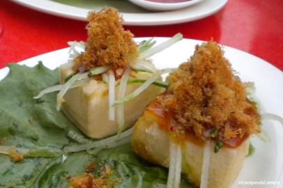 Pork floss on tofu