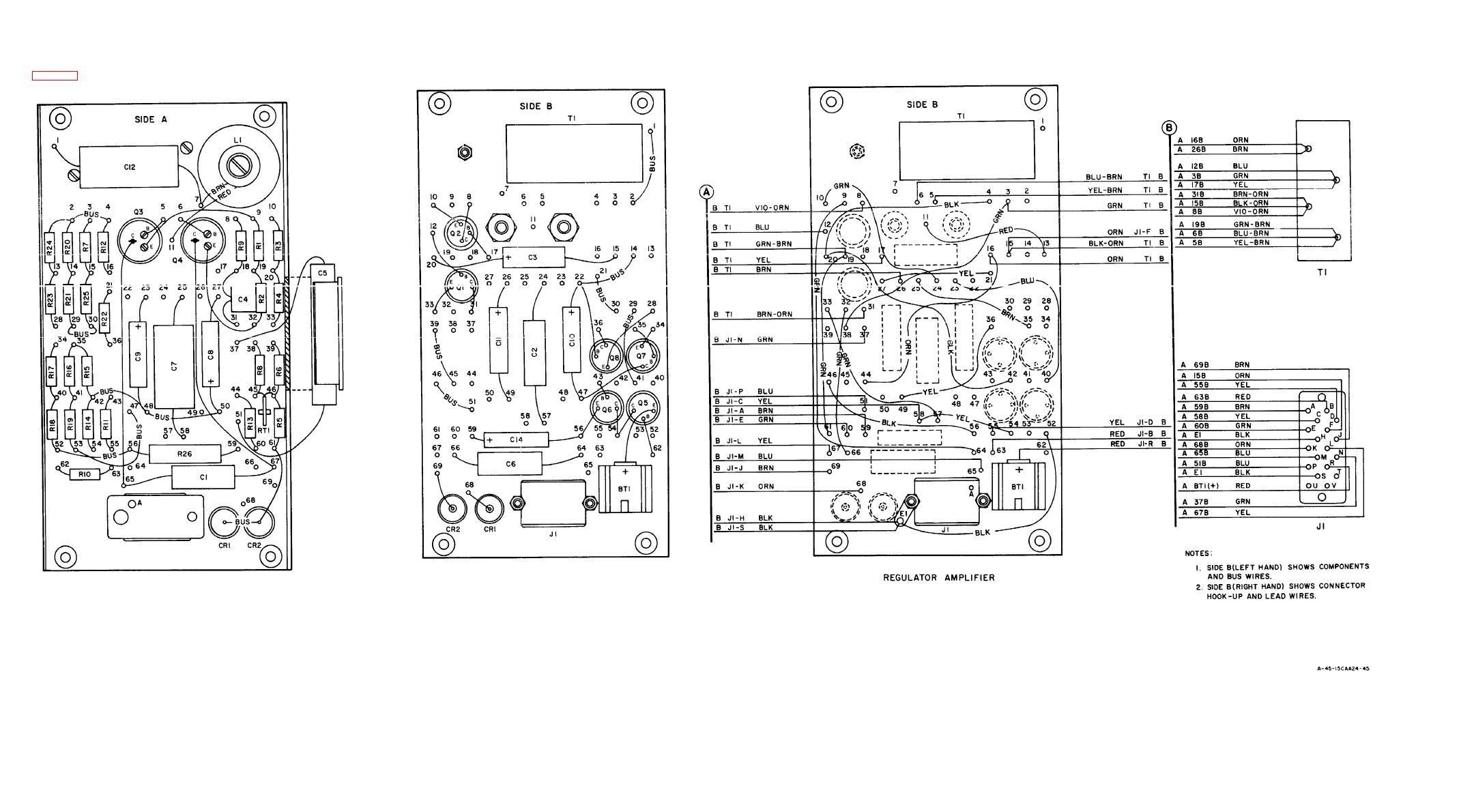 Figure 6-13. Regulator Amplifier Wiring Diagram