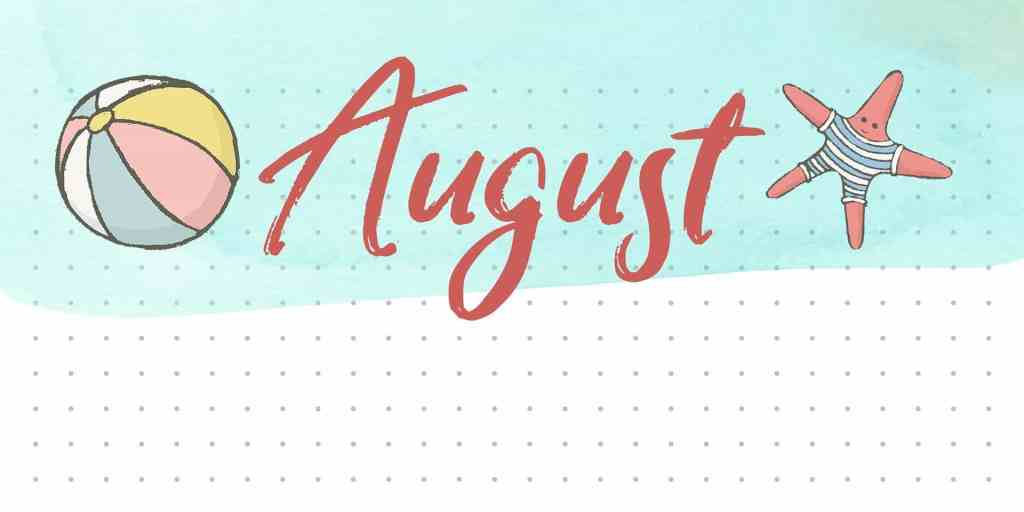 August Beach Bullet Journal Layout Idea