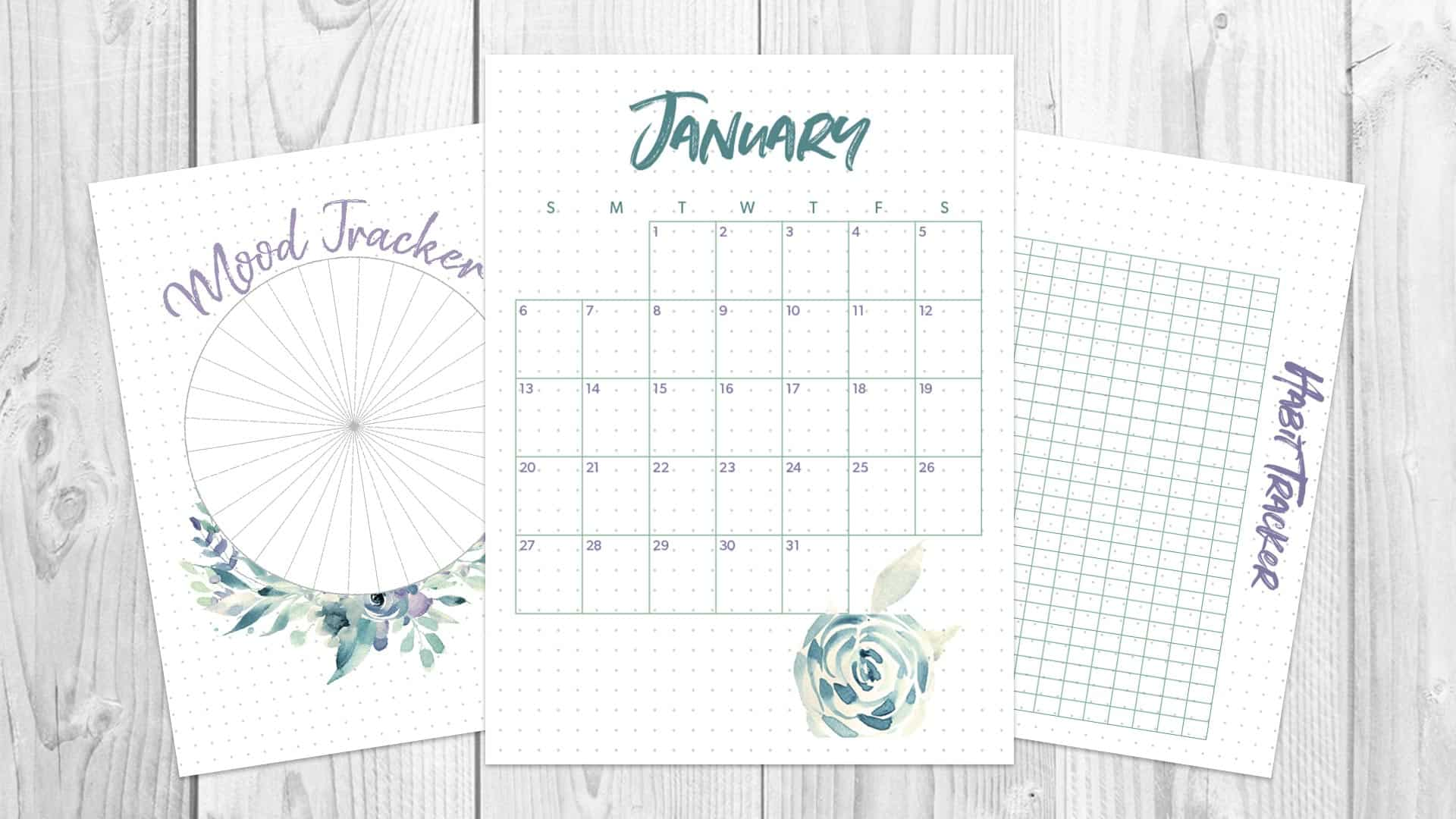 picture relating to Bullet Journal Monthly Calendar Printable identified as January 2019 Regular monthly Bullet Magazine Distribute - Comp and Ink