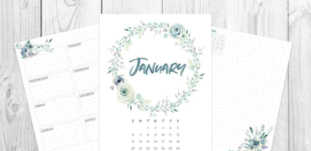 2019 Bullet Journal Monthly Spread