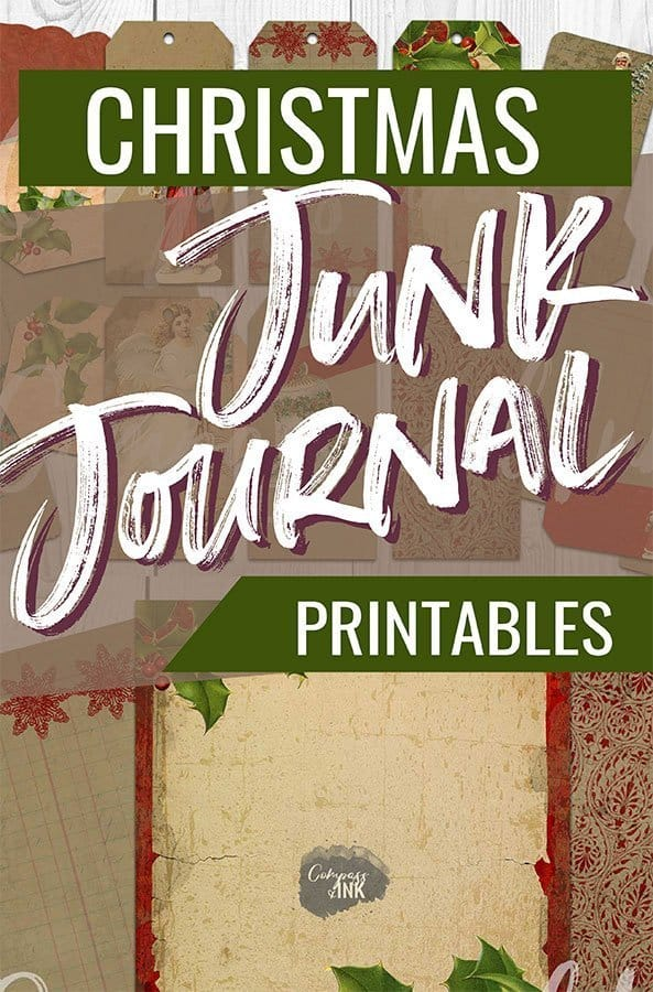 christmas junk journal printables