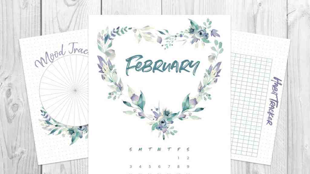 february 2019 bullet journal monthly spread