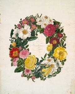 1799 rose wreath junk journal ephemera