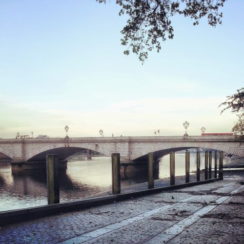 Putney Bridge in winter