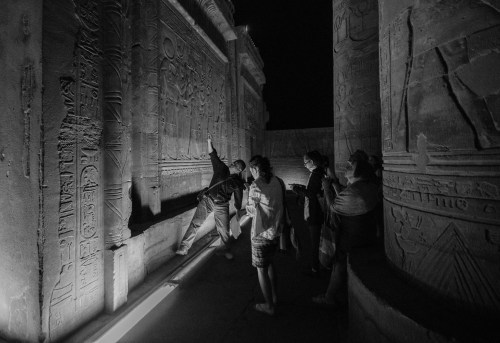 Tarek at Night in Kom Ombo