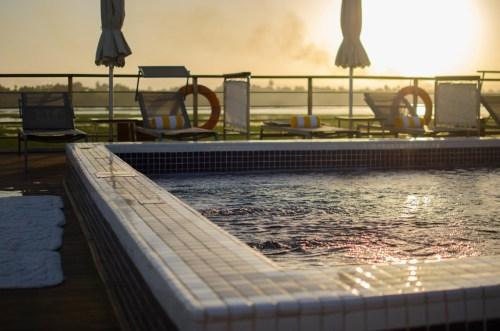 The sundeck pool