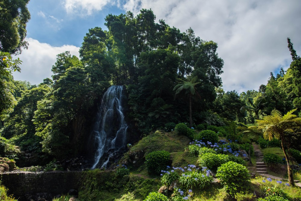 Beautiful Waterfall on the Azores