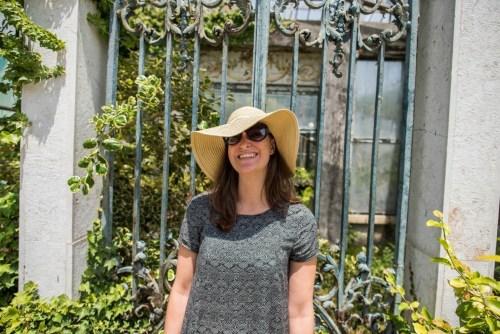 Antie in a Portuguese Garden