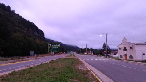 Coyhaique Carretera Austral sign