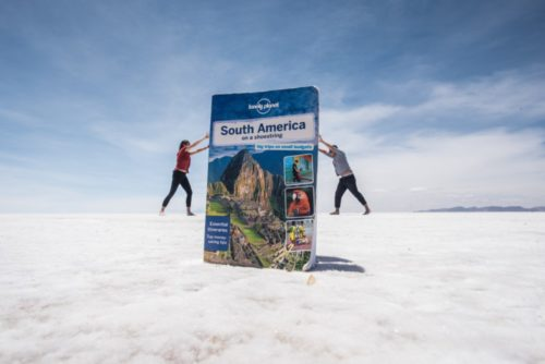 Pete & Antie on the Salt Flats in Bolivia