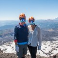 Pete & Antie on a volcano in Pucon