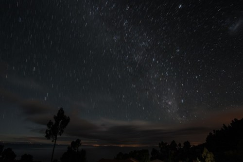 Night skies over Lake Titicaca