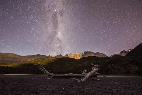 Night sky at Dickson campsite
