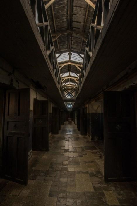 A derelict corridor in Ushuaia Prison