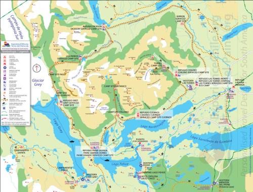 map Torres del Paine