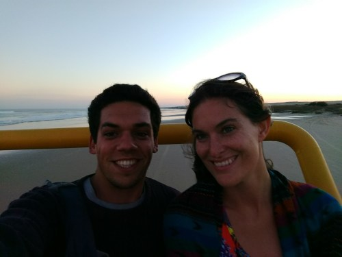 Pete & Antie at Cabo Polonio