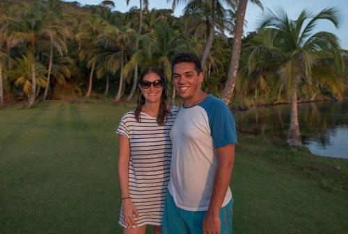 Pete & Antie on day 4 of the San Blas Islands